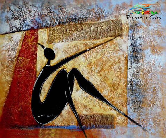 tranh trừu tượng -tranh sơn dầu giá rẻ