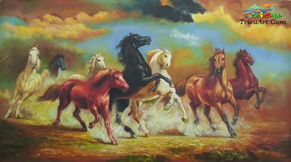 tranh sơn dầu mã đáo thành công