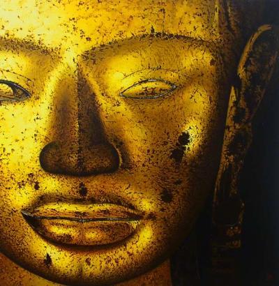 Tranh sơn dầu Buddha