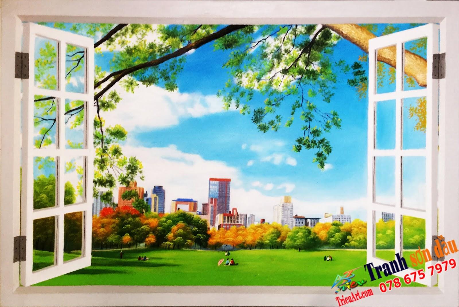 Tranh cửa sổ 3D