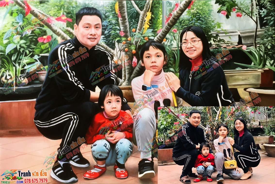 Vẽ chân dung gia đình, quà tặng yêu thương