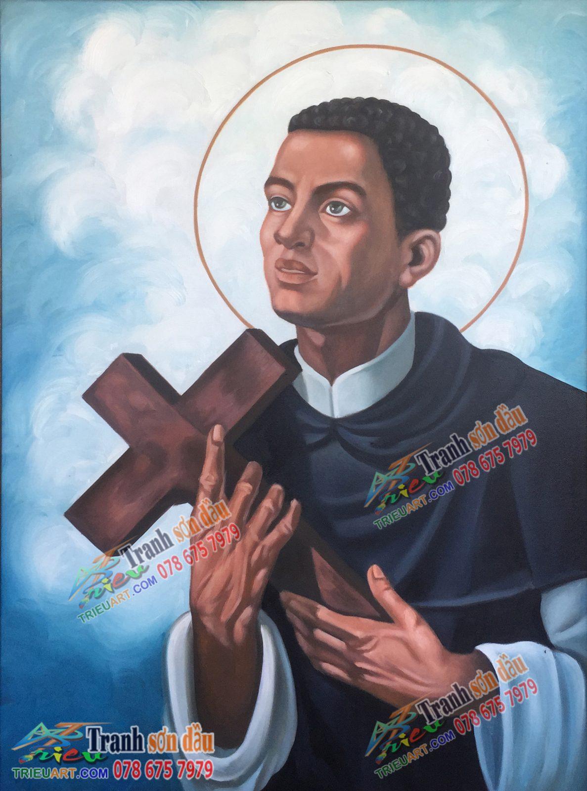 Tranh vẽ Thánh Martino De Porres