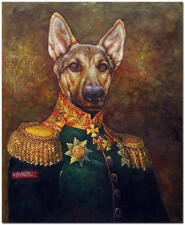 Khi thú cưng của bạn đượ mặc áo vua, tranh vẽ thú cưng