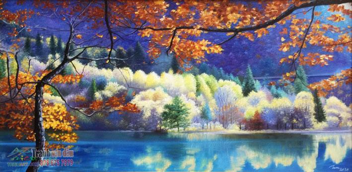 Tranh vẽ phong cảnh cửu trại câu