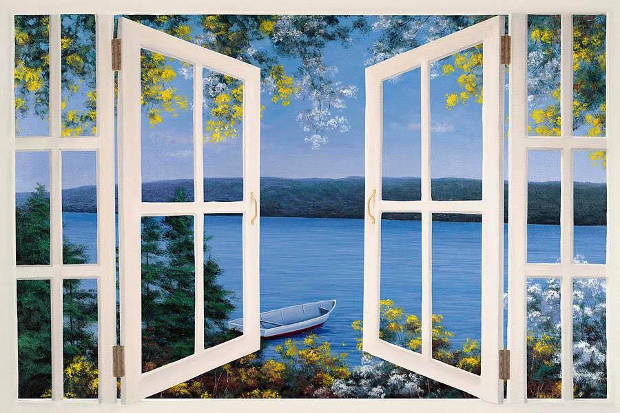 Tranh vẽ nhìn ra của sổ