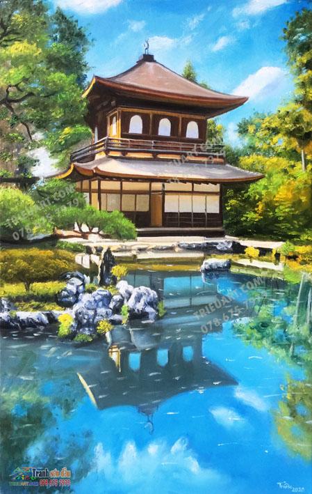 Tranh phong cảnh Kyoto 2 - Tranh sơn dầu trên toan